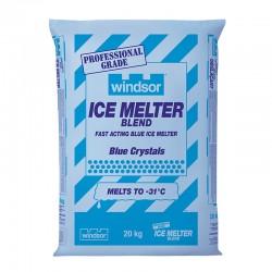 Windsor – Professional Grade Ice Melter Blend with Blue Crystals – 20kg Bag #7886